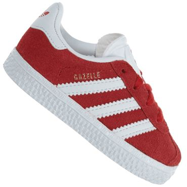 Details about Adidas originals kids gazelle leather shoes sneakers by9565 scarlet red show original title