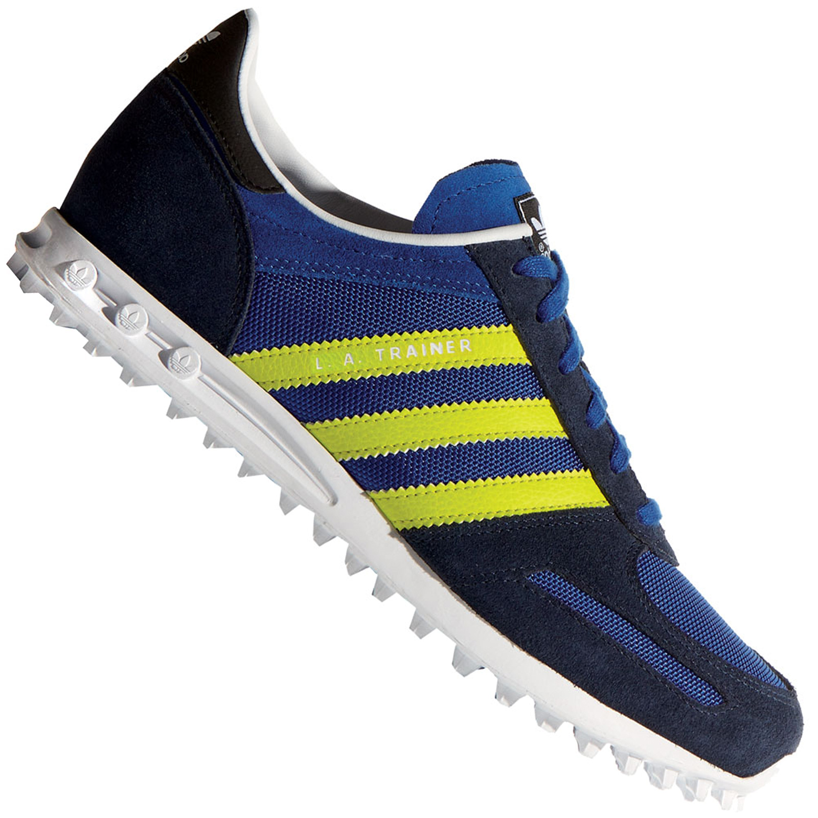 Details about Adidas Originals La Trainer Women's Sneakers Casual Shoes Navy Blue Yellow