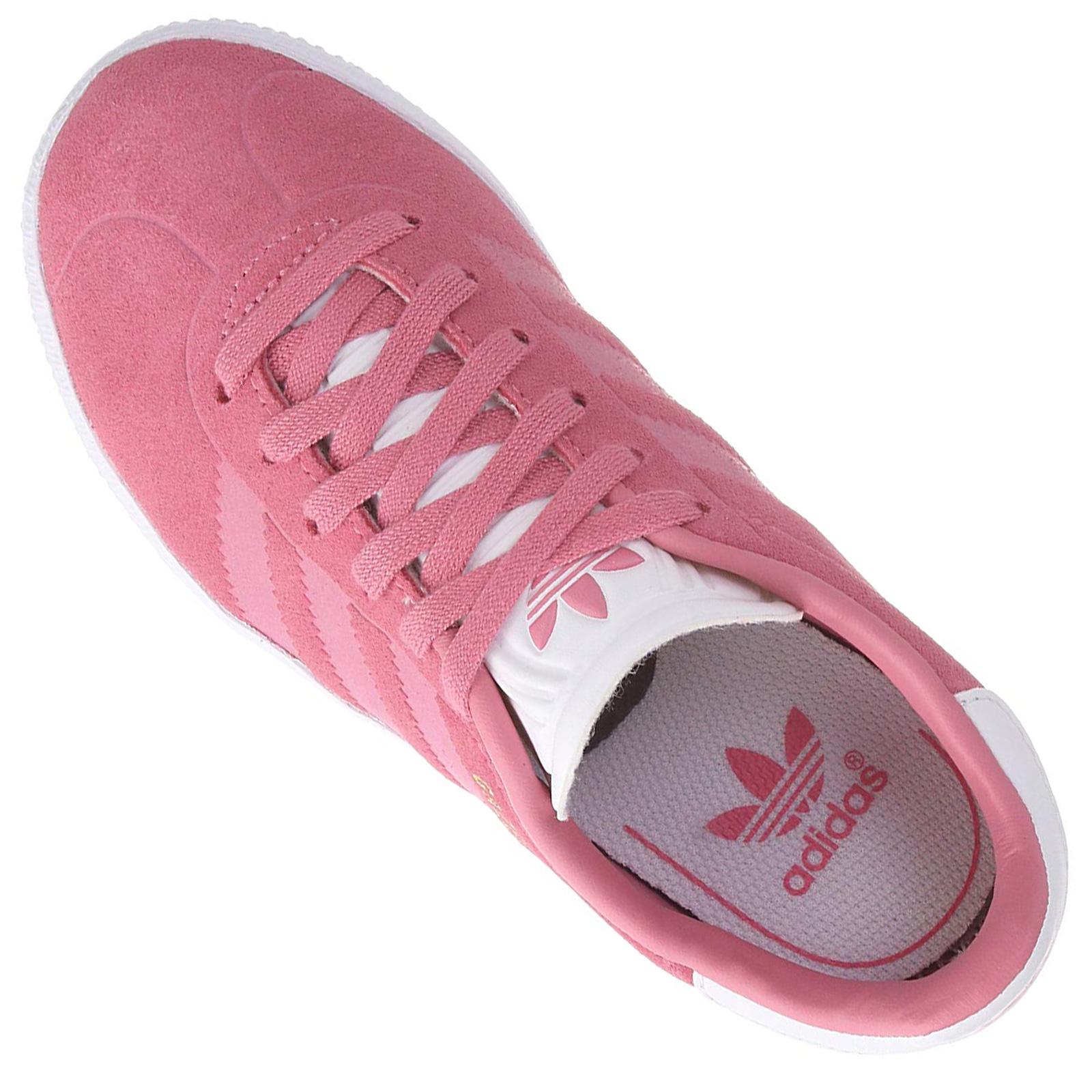 gut offizielle Bilder reich und großartig adidas Originals Gazelle Damen Sneaker Turnschuhe Leder Sneaker Pink Weiß  CQ2882