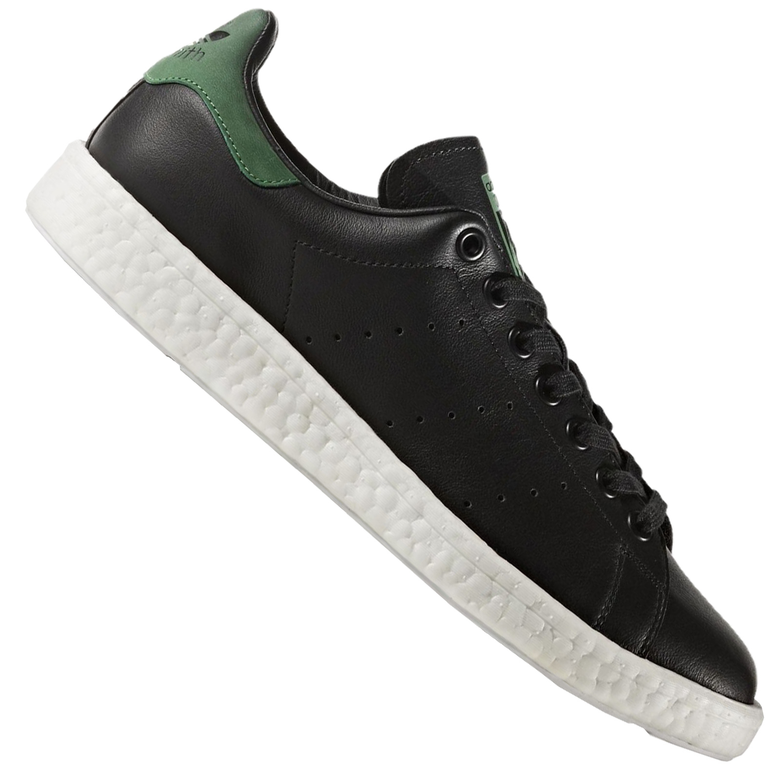 separation shoes 6e5f0 86b6e Details about Adidas Originals Stan Smith Boost Trainers Shoes BB0009 Black  Green
