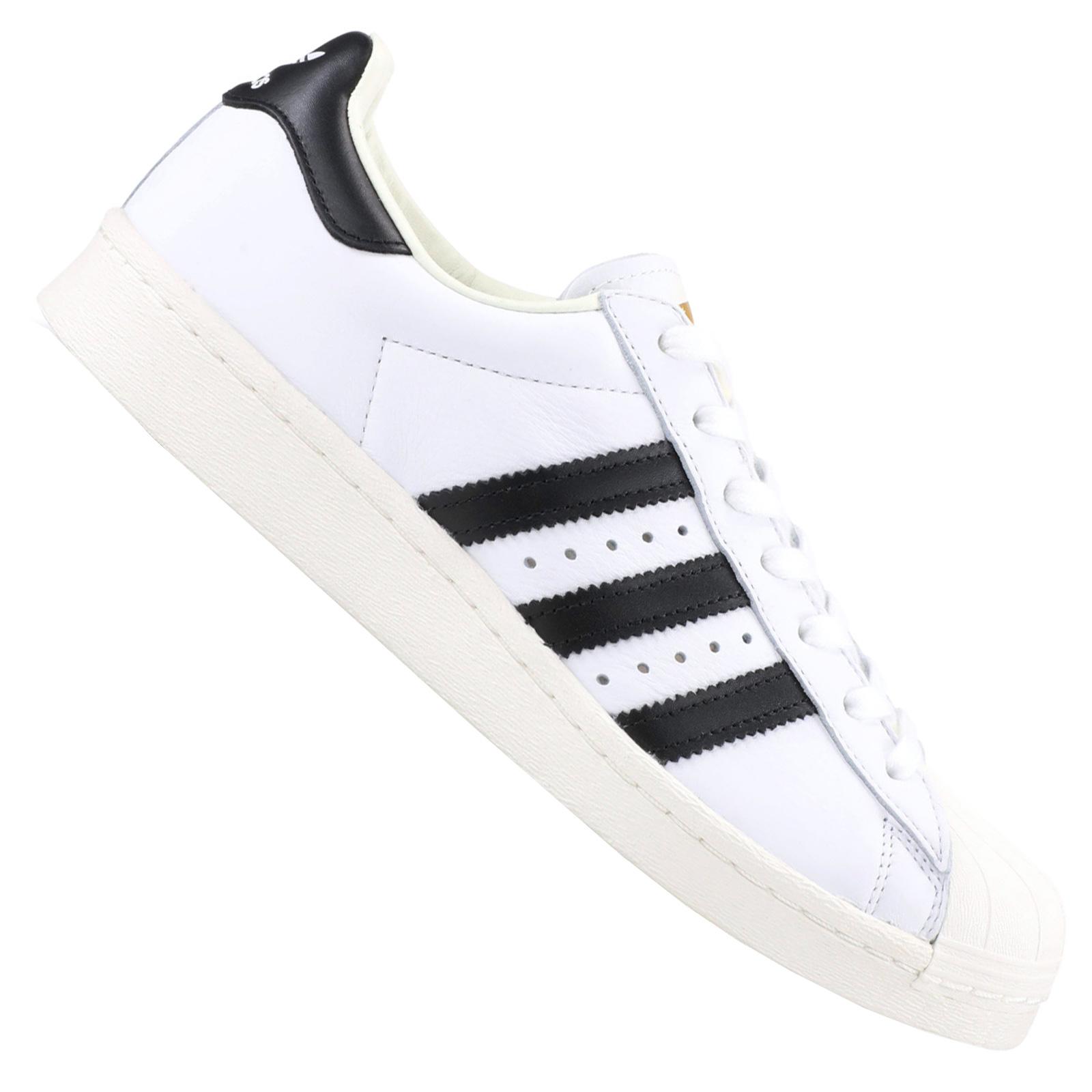 low priced 009e4 eab4d adidas Originals Superstar Boost Herren Leder Sneaker Turnschuhe Weiß  Schwarz