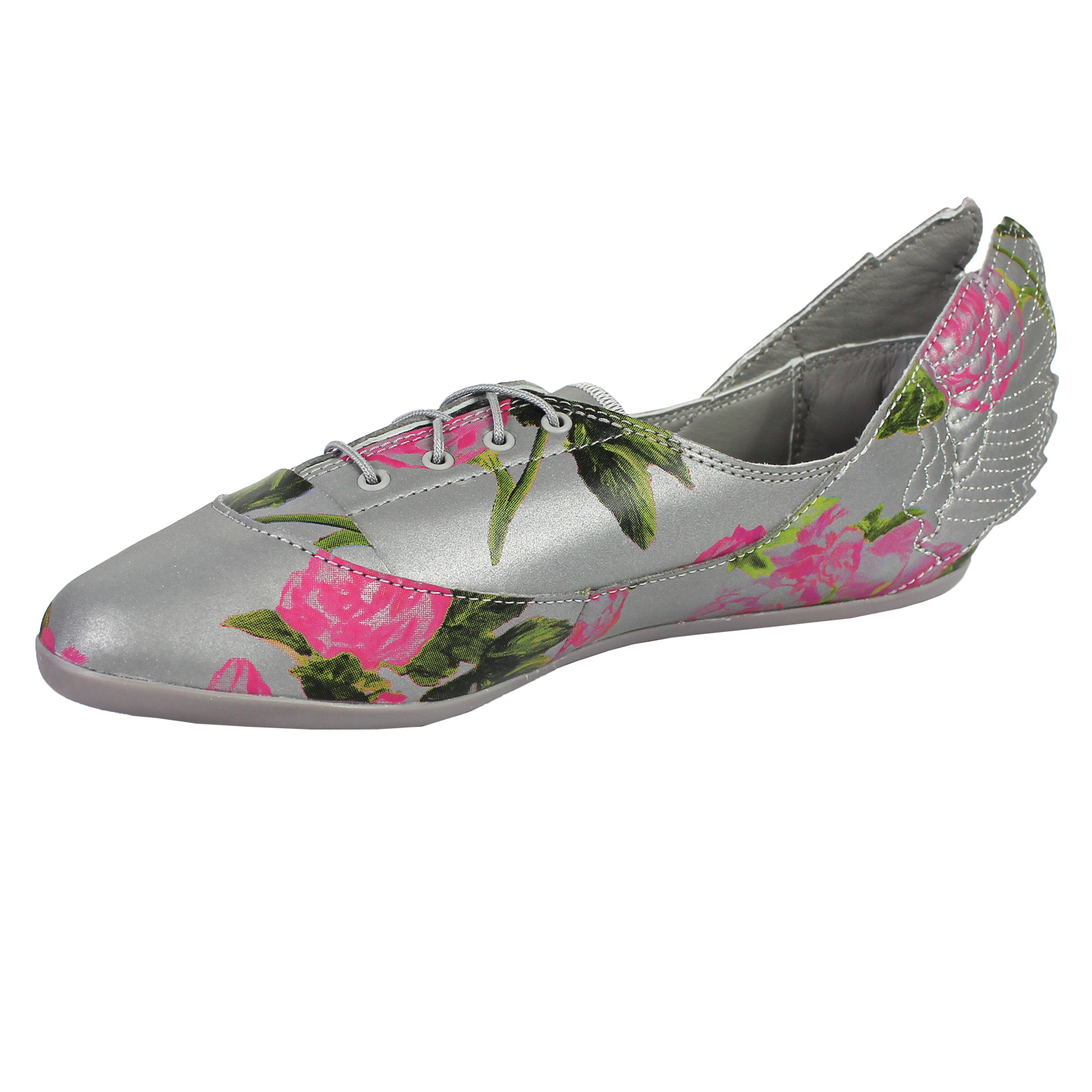 the latest cf0f3 86fbf adidas Originals JS Jeremy Scott Wings Easy5 Floral Ballerina Schuhe Grau  Blumen