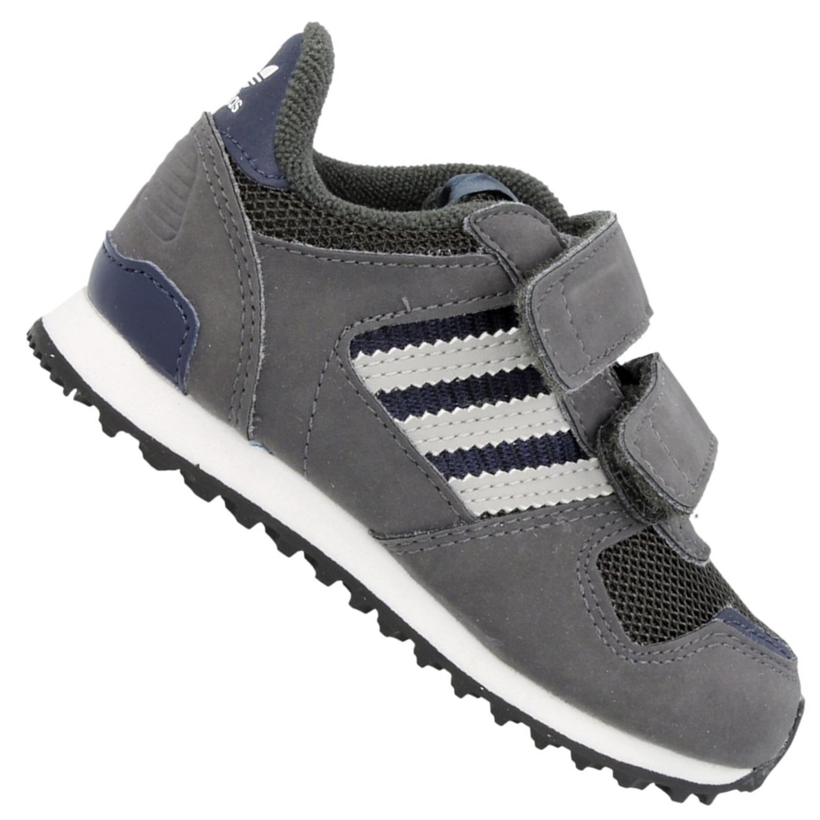 Details zu adidas Originals ZX 700 Flux Kinder Jungen Sneaker Turnschuhe Dunkelgrau Grau 26