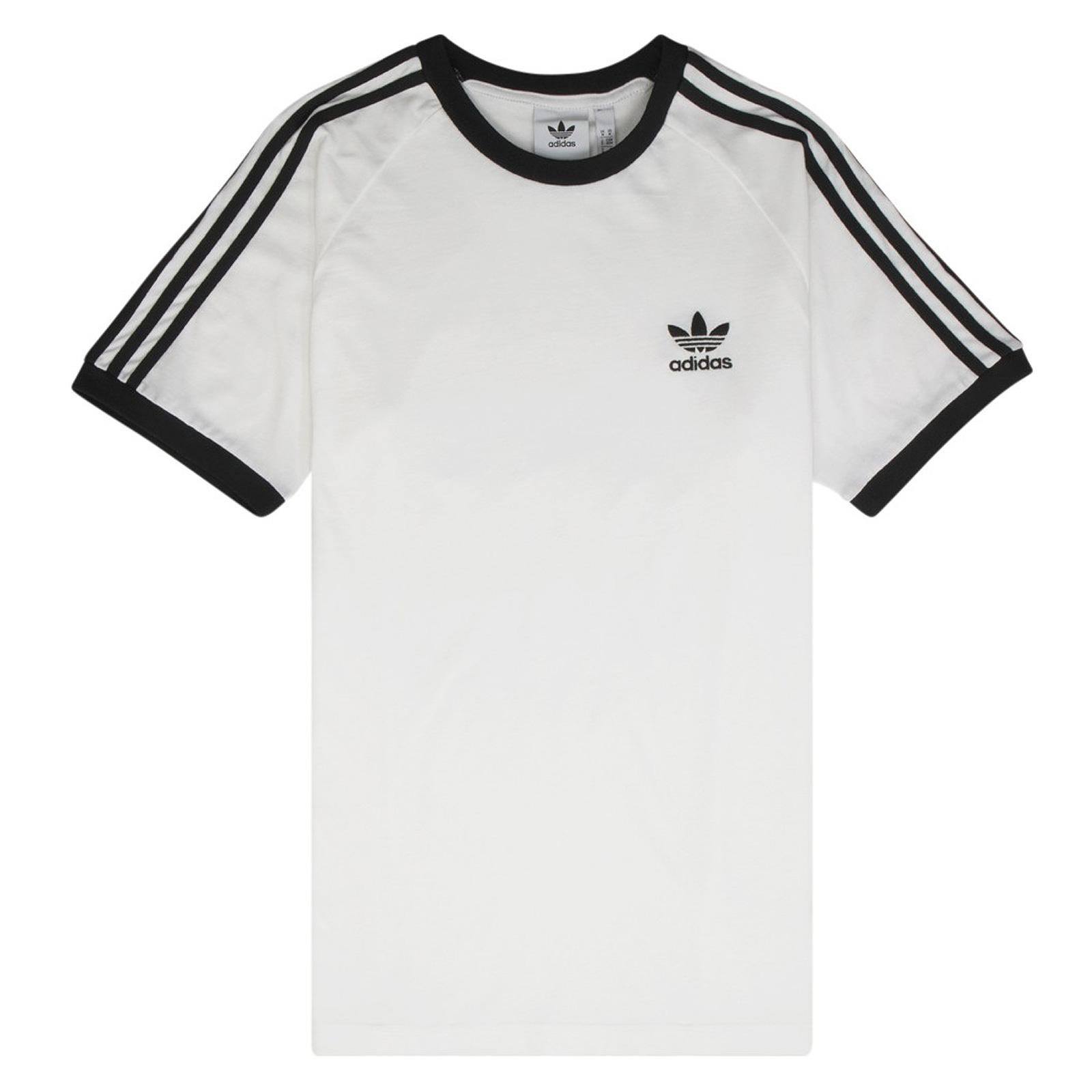 huge inventory discount sale online for sale adidas Originals 3 Stripes Logo Tee Herren Trefoil Vintage Shirt Weiß  Schwarz