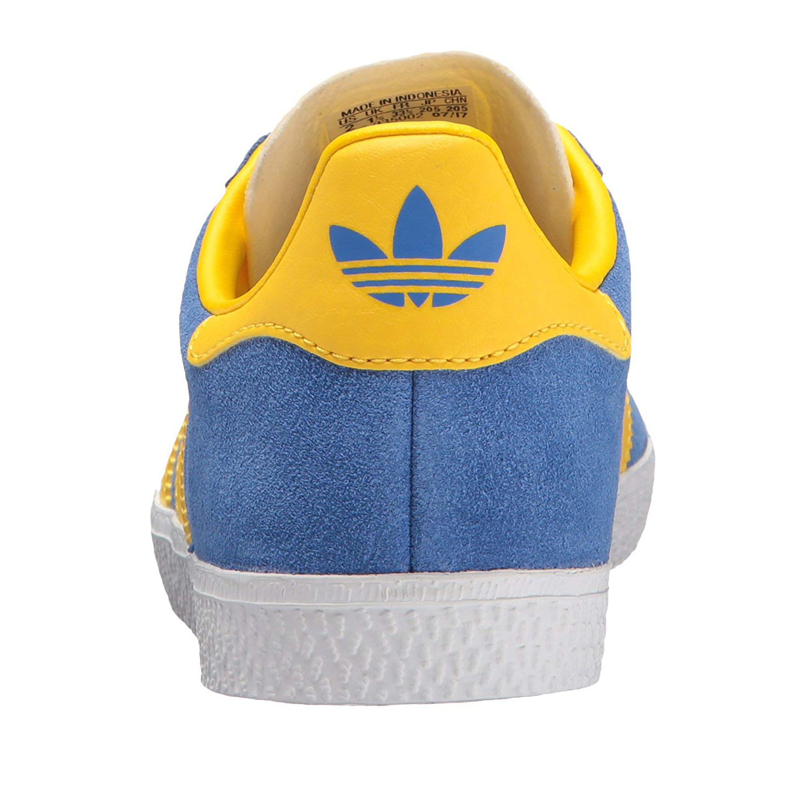 Details about Adidas Originals Gazelle Children's Sneakers Leather Shoes BY9550 Blue Yellow