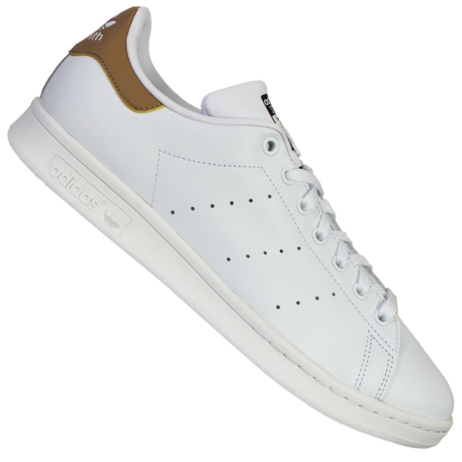adidas Originals Stan Smith Herren Sneaker Turnschuhe Weiß Beige 45 13 UK 10,5
