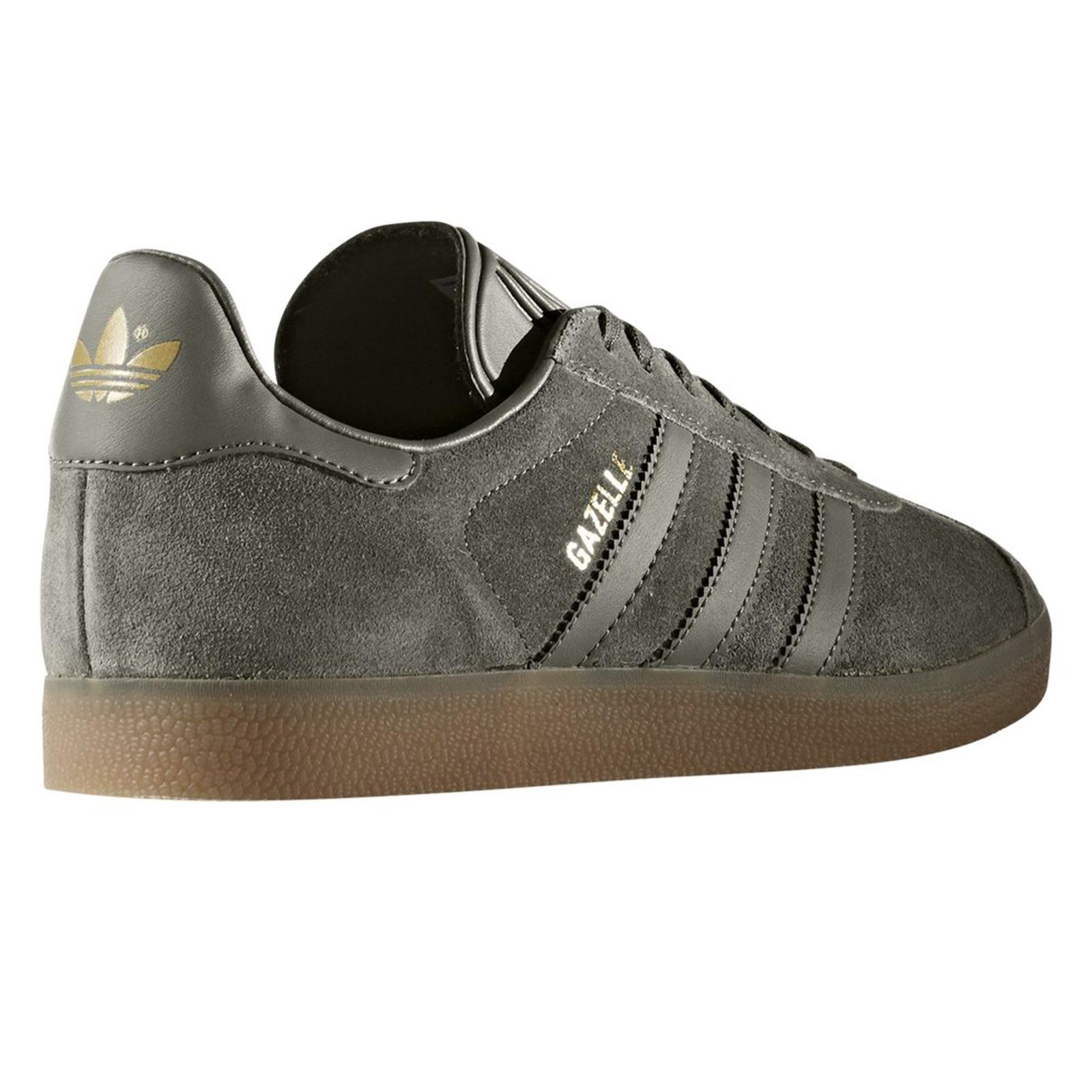 adidas Originals Gazelle Damen Sneaker Leder Turnschuhe Utility Grey Grau BB2754