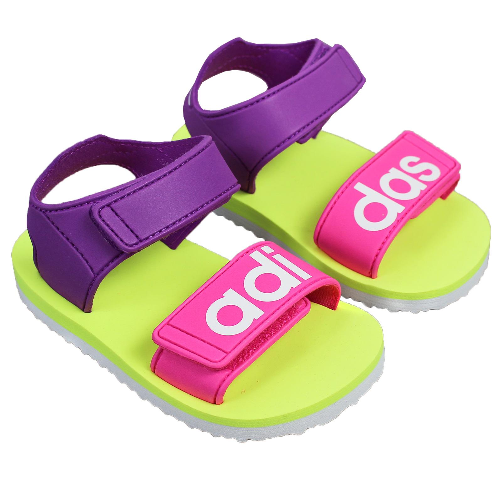 buy online 68fef 15519 adidas Beach Sandale Kinder Badeschuhe Sommerschuhe Strand Schwimmbad Pink  Lila