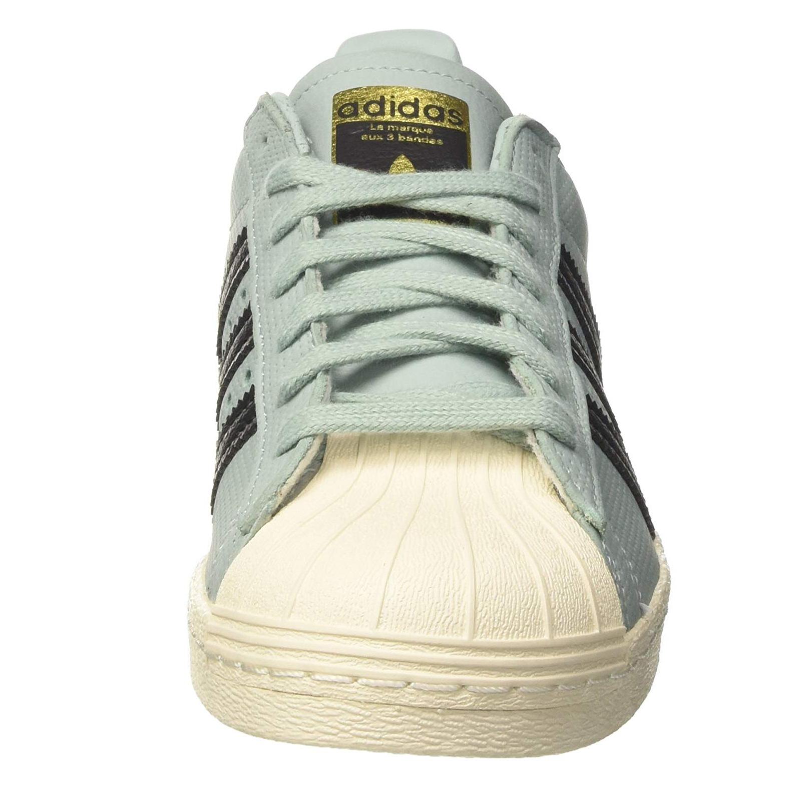 quality design ef1d1 8a6f9 Adidas Superstar 80s Schuhe Retro Sneaker BZ0143 Tactile Green Blau-Grün