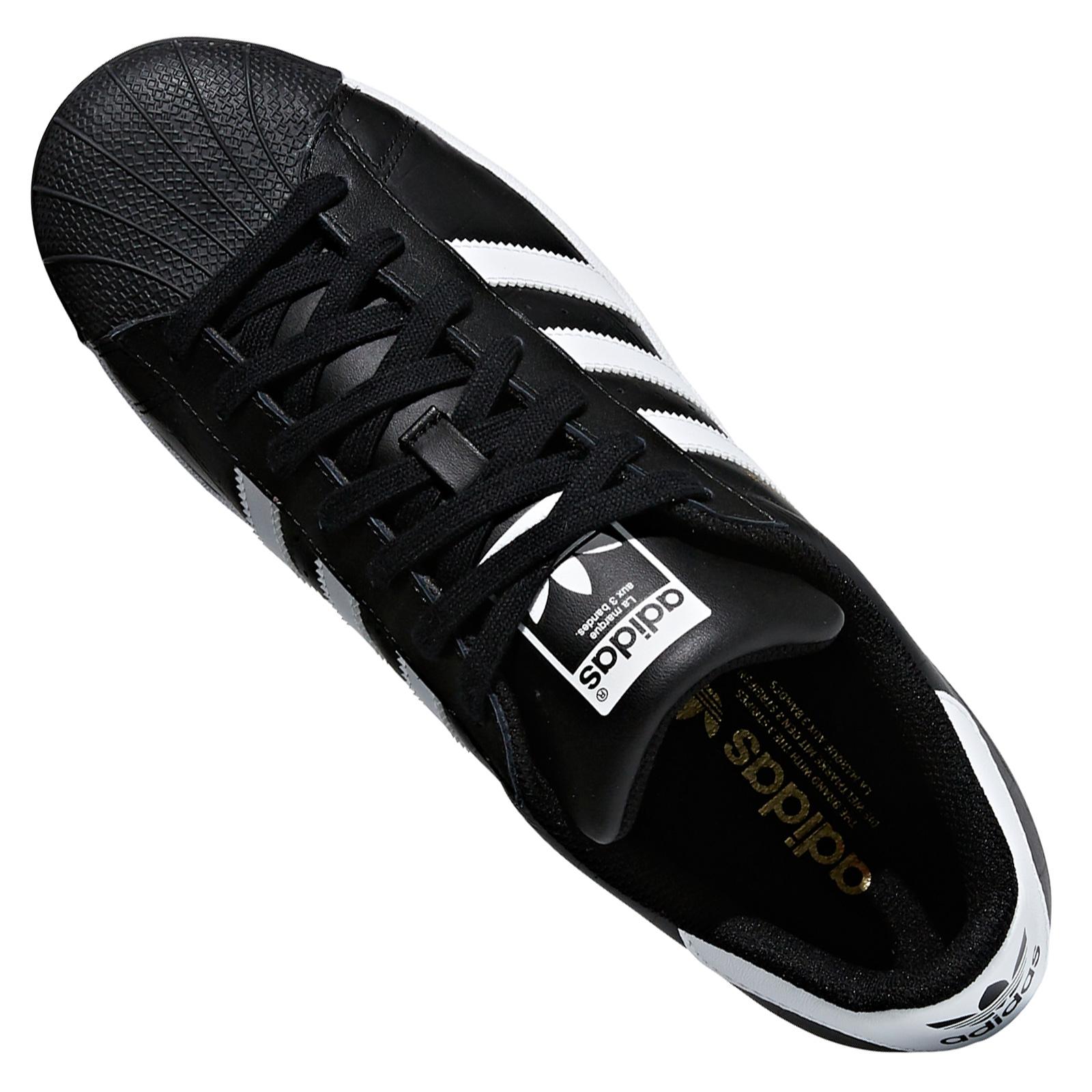 cheap for discount f4a12 7c156 adidas Originals Superstar SST Damen Herren Leder Sneaker Turnschuhe  Schwarz Weiß