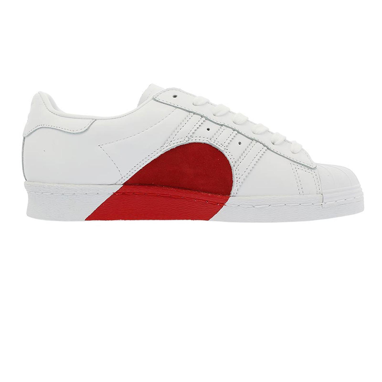 Dettagli su ADIDAS Superstar 80s HH Half HEART CUORE Sneaker LIMITED EDITION cq3009 BIANCO ROSSO mostra il titolo originale