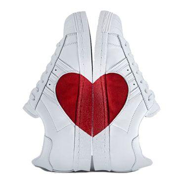 adidas superstar weiß rot
