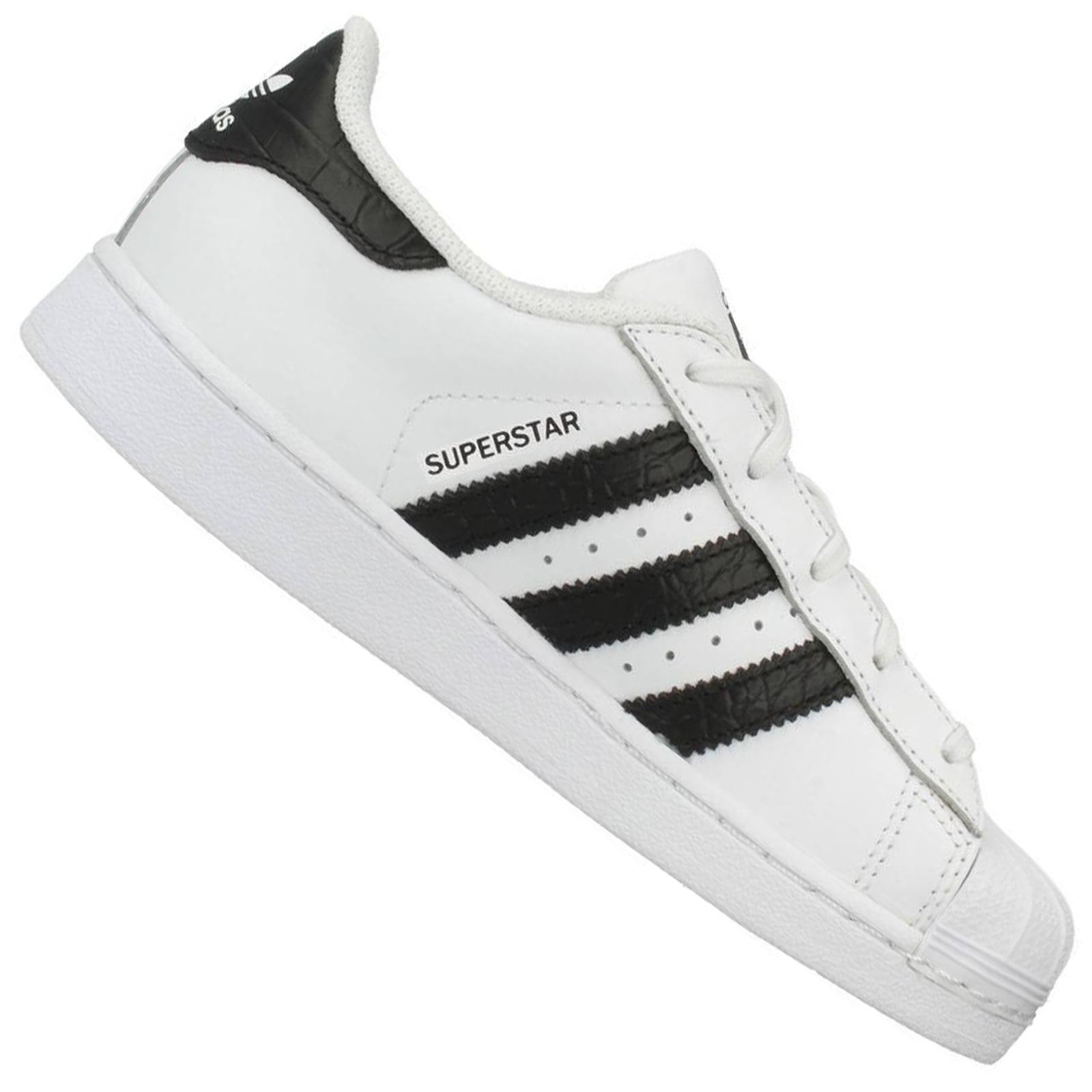 WeißSchwarz Adidas Superstar Herren Originals Schuhe