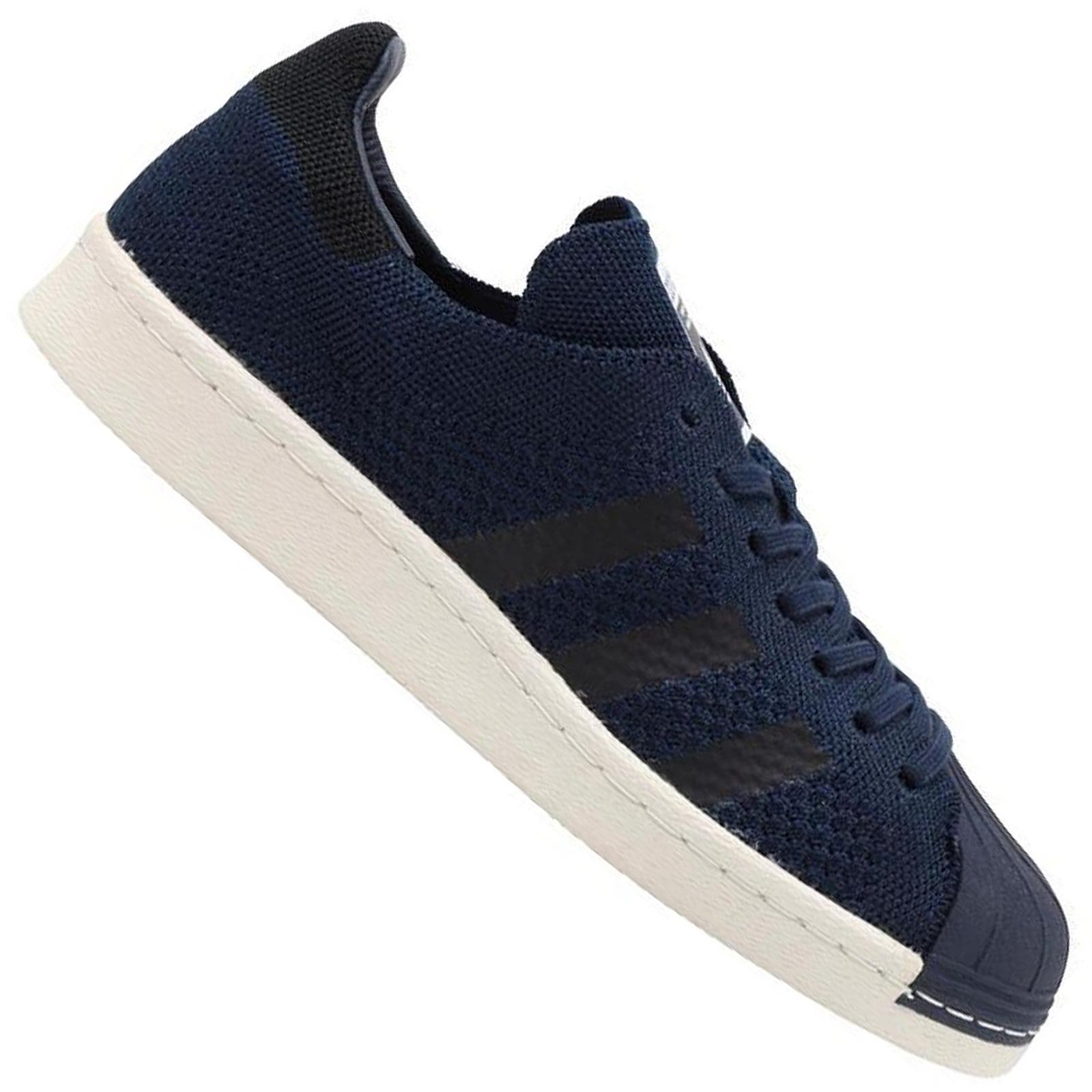 Details about Adidas Originals Superstar 80s Primeknit Sst Pk Men's Sneakers Shoes Navy