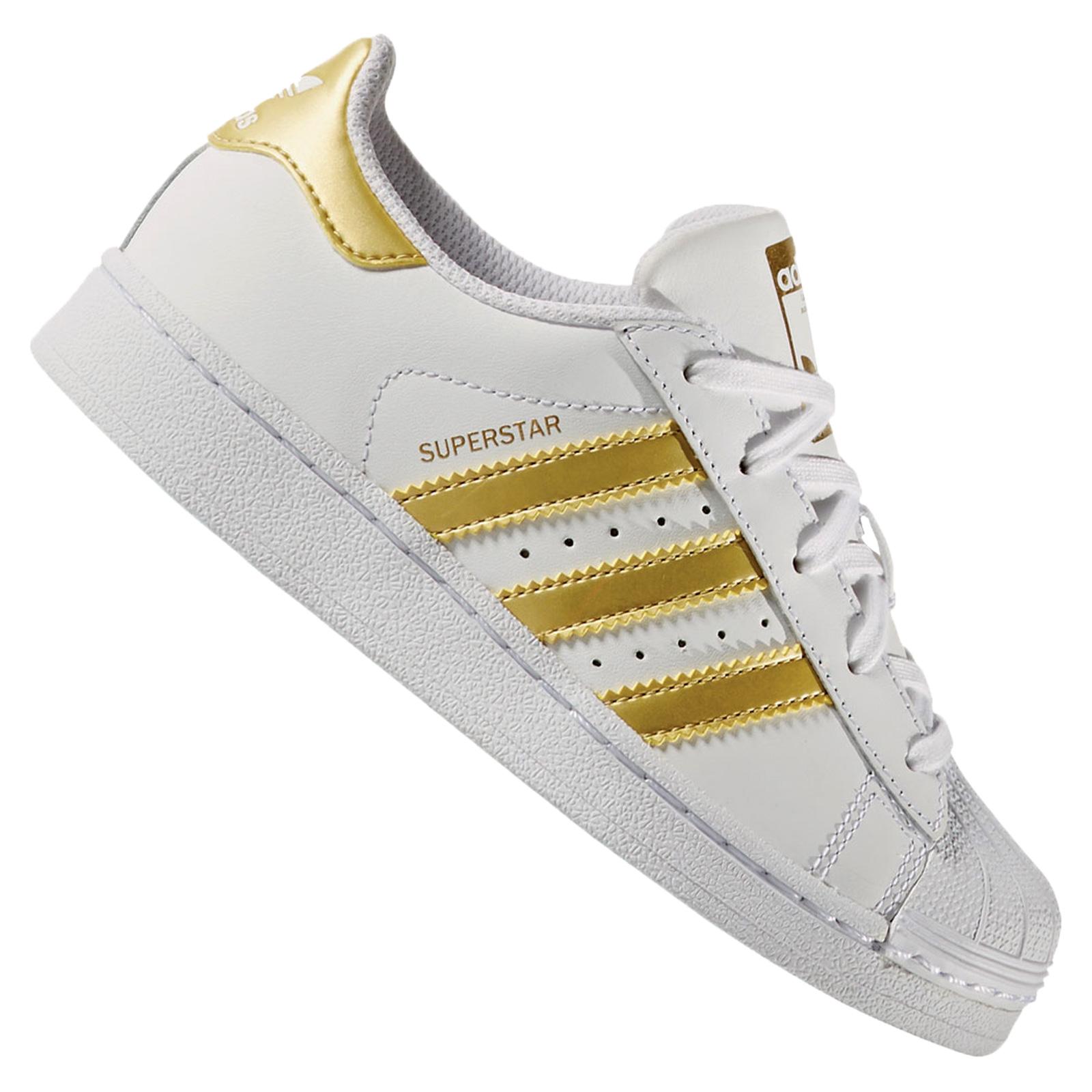Girls Sneakers Originals Gold Adidas Children's Superstar About Ba8383 Details White Shoes wP08nOk