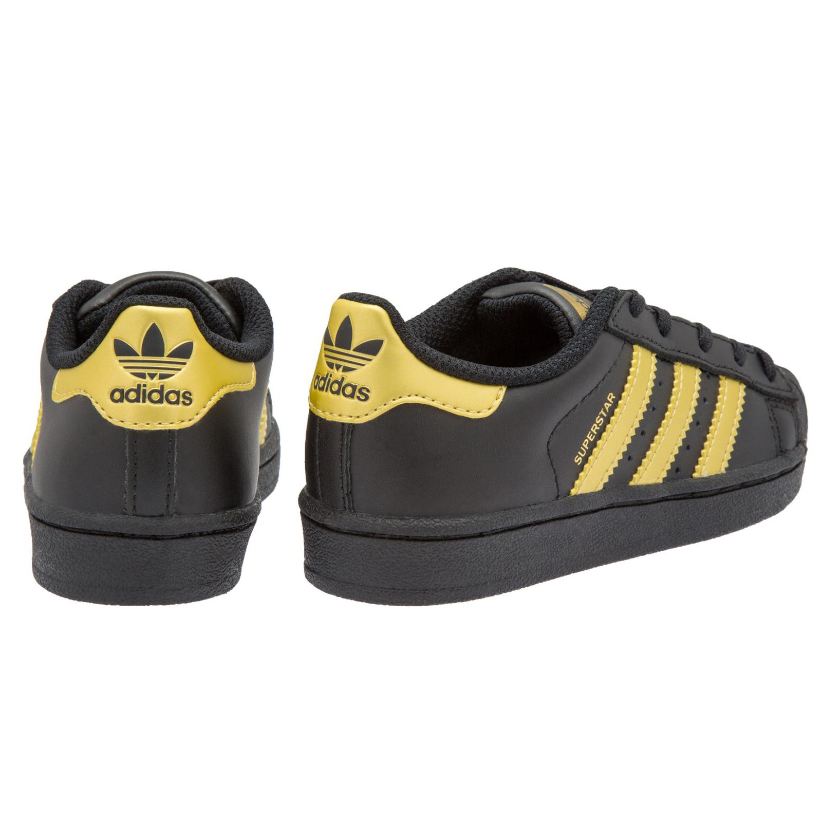 Details about Adidas Originals Superstar Kids Shoes Sneakers BB2873 Black Gold show original title