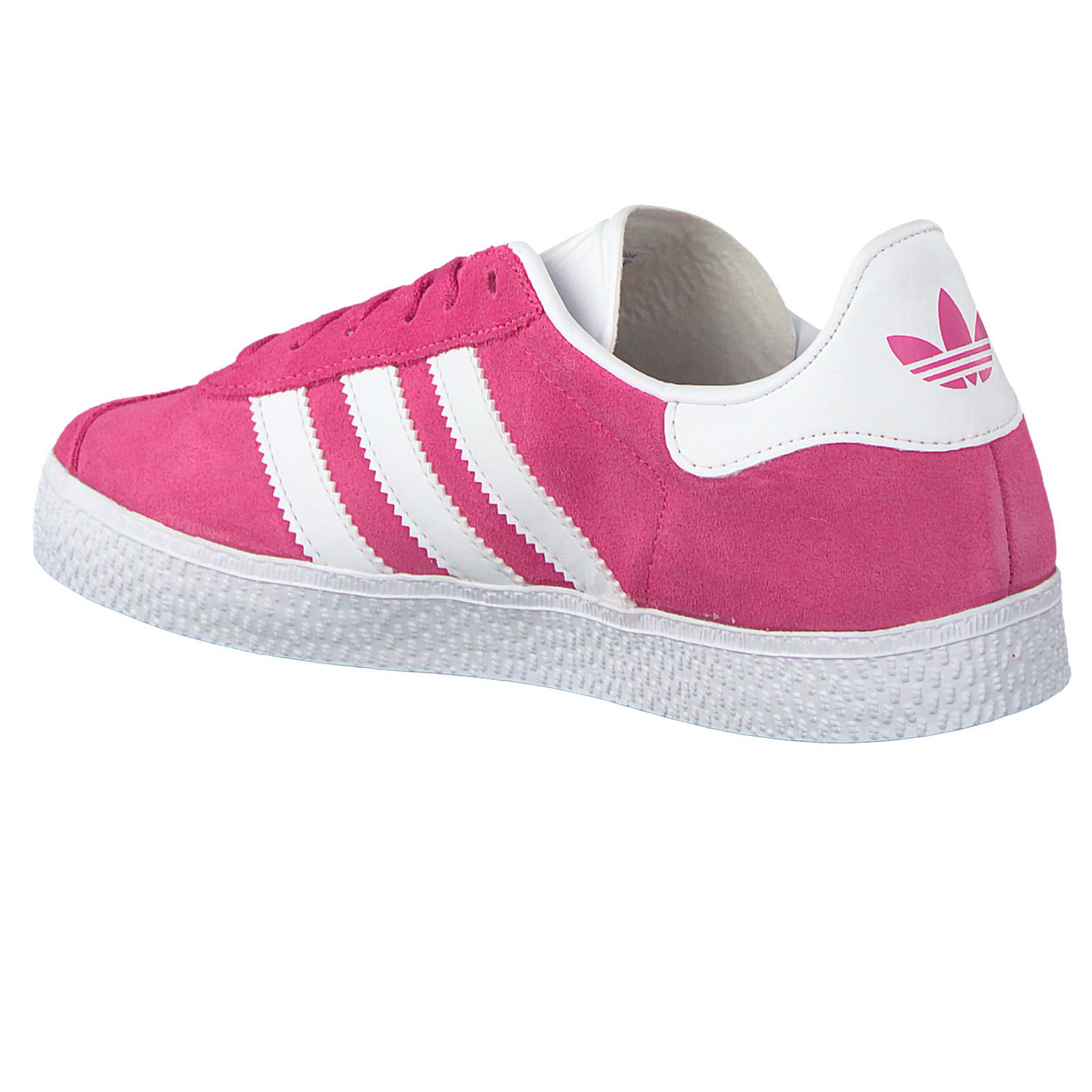 timeless design 24f6a 59e5b adidas Originals Gazelle Kinder Mädchen Sneaker Leder Schuhe B41531 Pink  Weiß