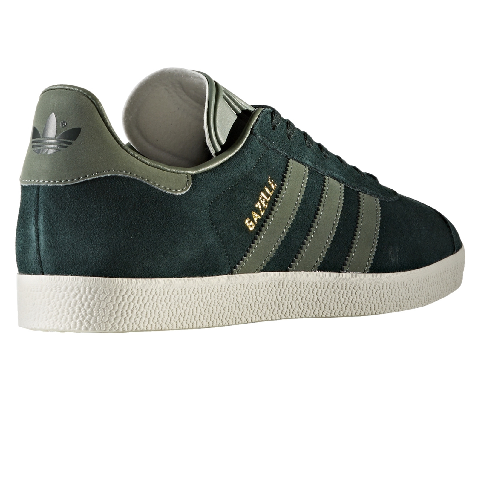 adidas Originals Gazelle Sneaker Leder Schuhe Green Night Tracegreen Grün BZ0031