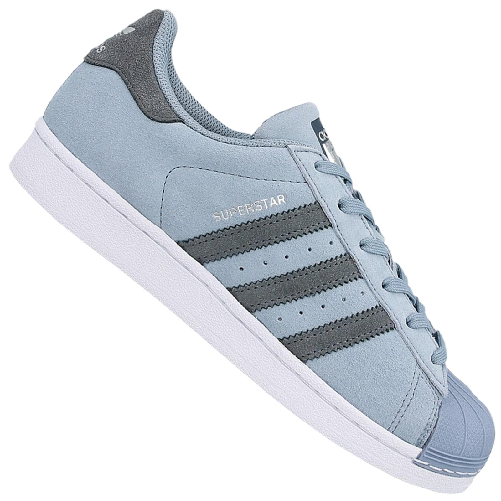 size 40 fd780 7d2d0 adidas Superstar Sneaker Schuhe Turnschuhe Leder Tactile Blue Blau BZ0361