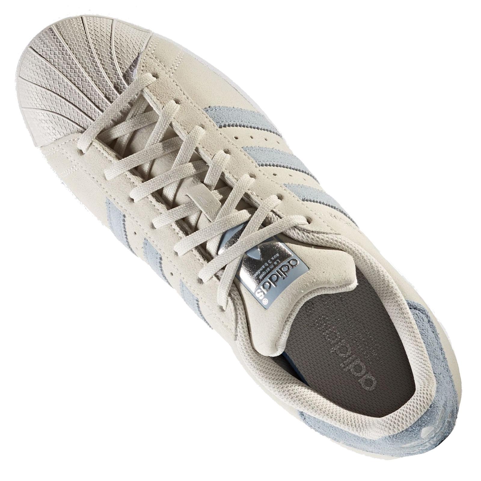 adidas Originals SUPERSTAR pearl greytactile blue Baskets