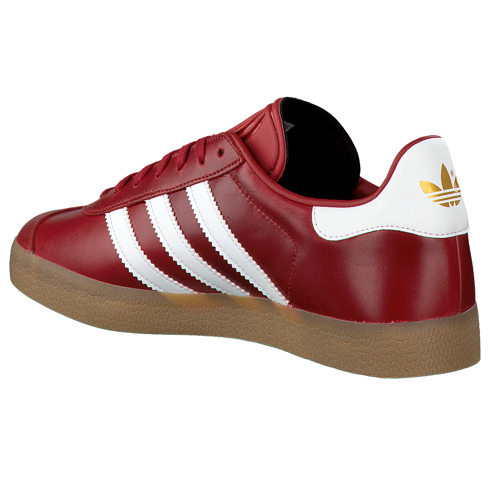 Details about Adidas Retro Gazelle Ladies Mystic Red Leather Sneakers Casual Shoes Wine