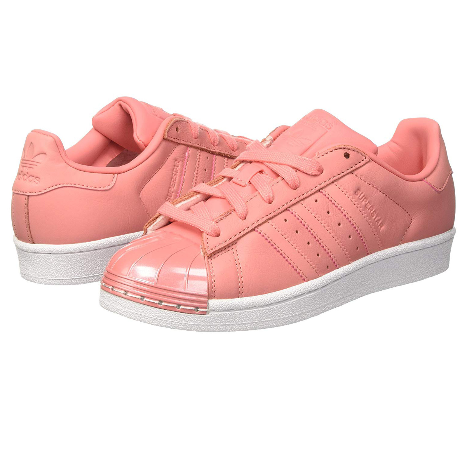 info for bbdd5 b1fcc ADIDAS DAMEN SUPERSTAR GLOSSY TOE SNEAKER SCHUHE BY9750 LEDER ROSA Tactile  Rose