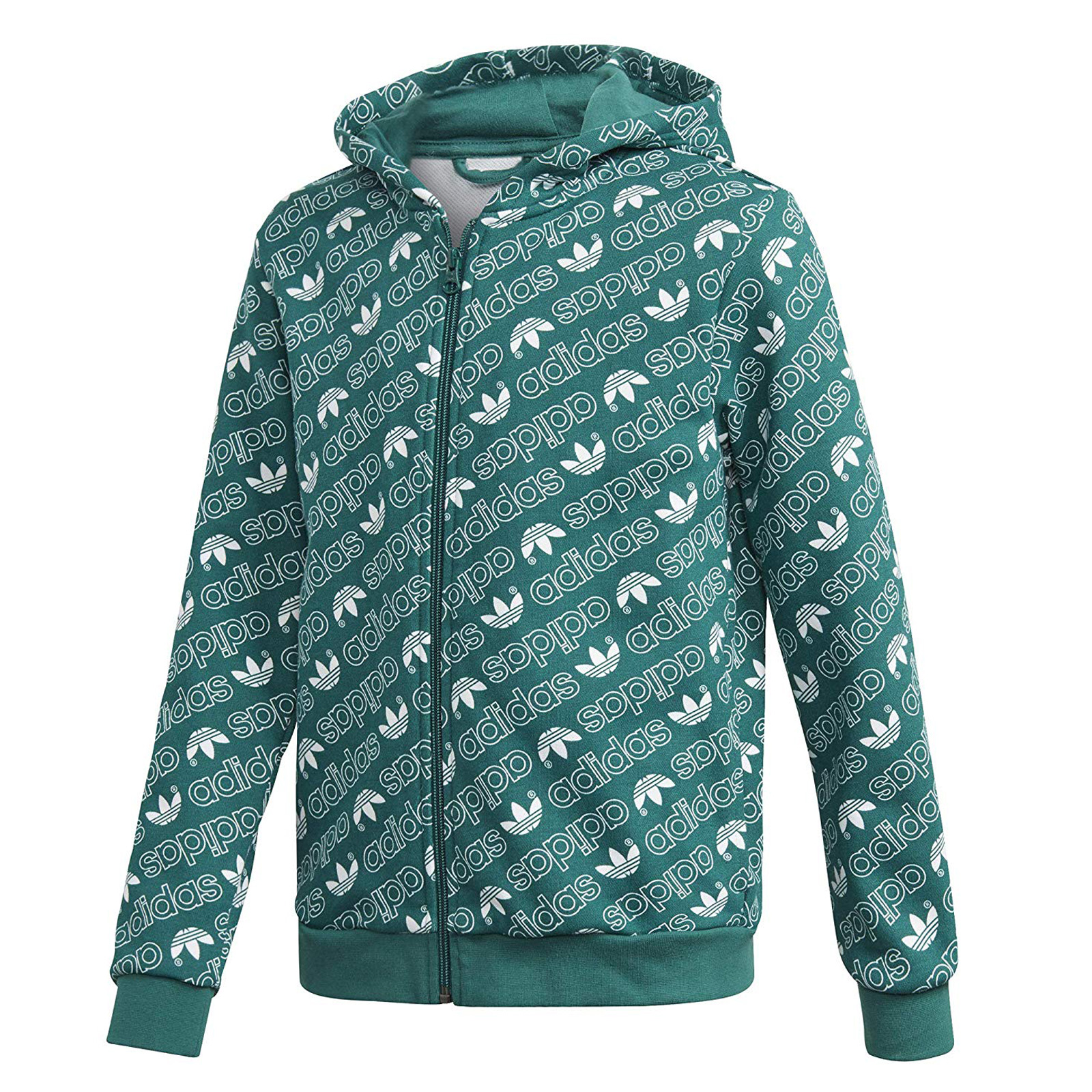Sweat Jacket Adidas Trefoil Hoody Green Details about 140 Originals Boys Hoodie N8nOwymv0
