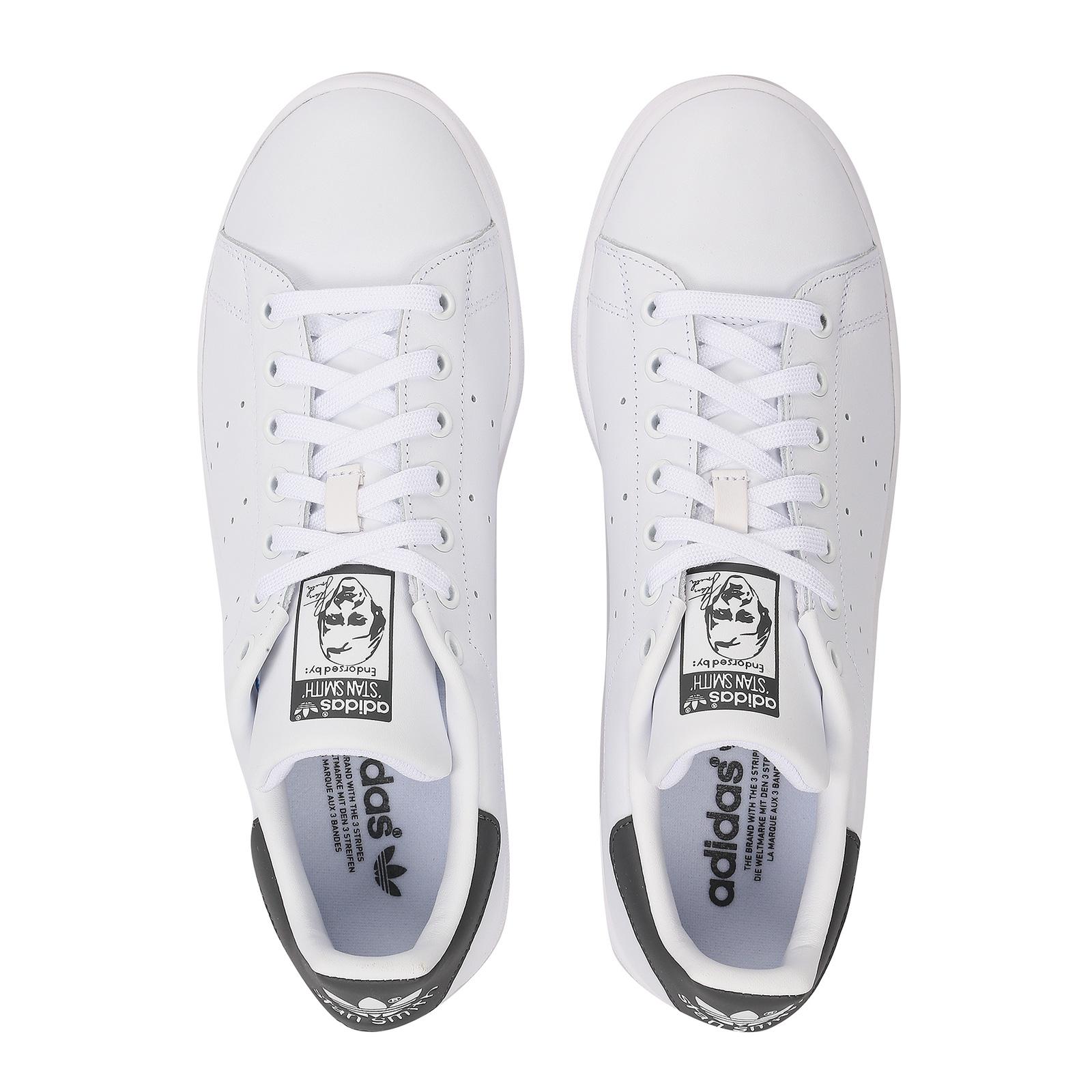 Detalles de Adidas Originals Stan Smith Hombre Zapatillas Deportivas CQ2206 Blanco Gris