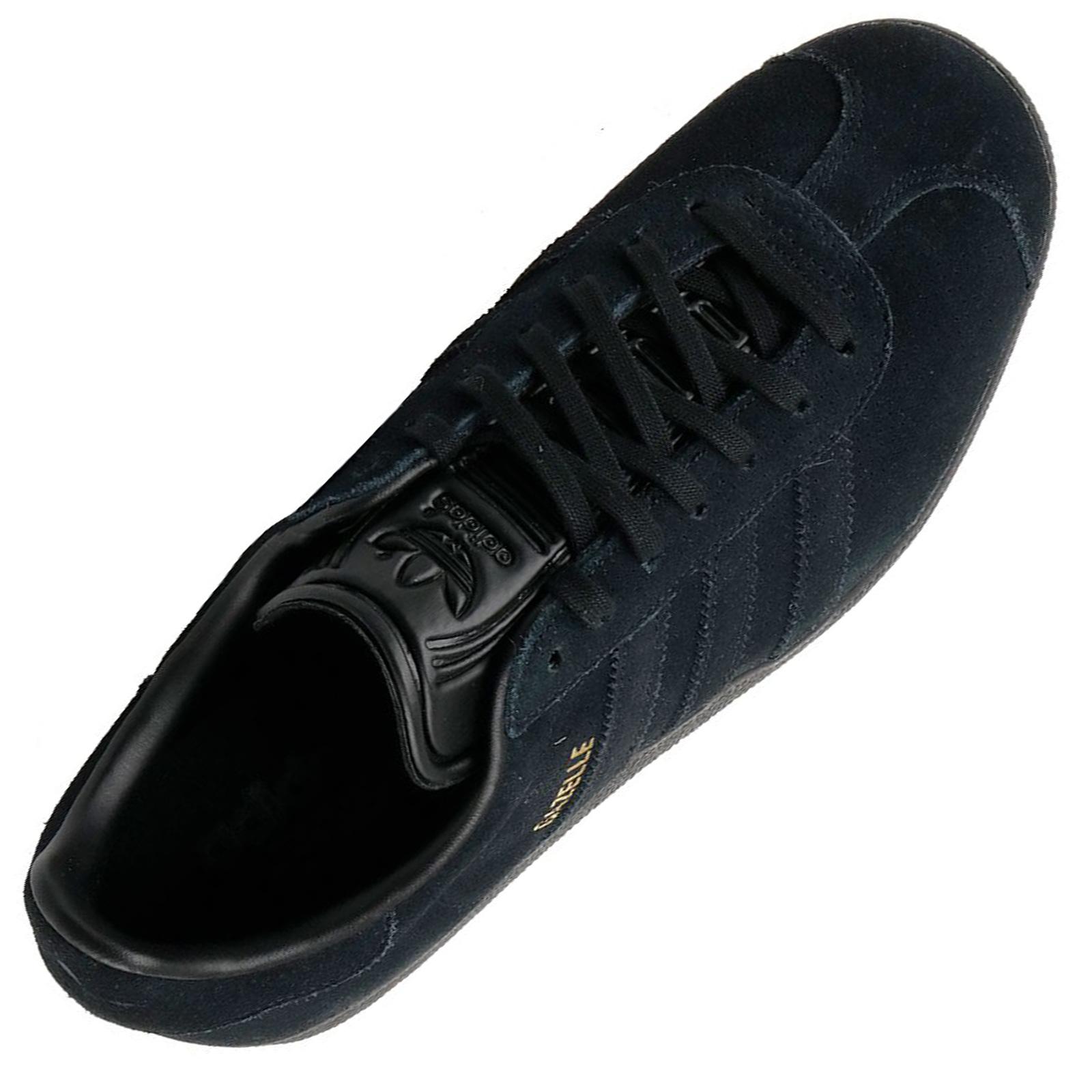 Details about Adidas Gazelle Retro Sneaker Trainers Leather Sneaker All Black Black show original title