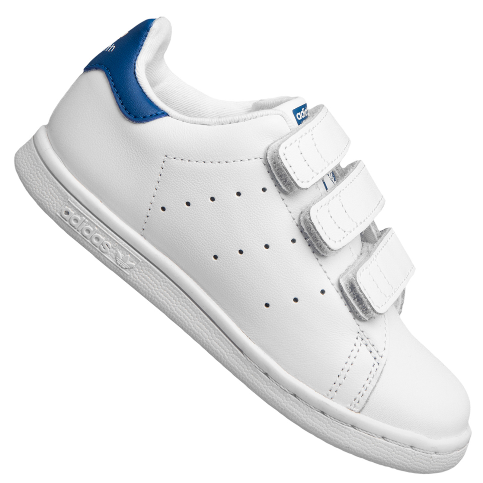 buy popular 0c15f a6a46 adidas Originals Stan Smith Sneaker Kinder Turnschuhe Leder Schuhe Weiß  Blau 27