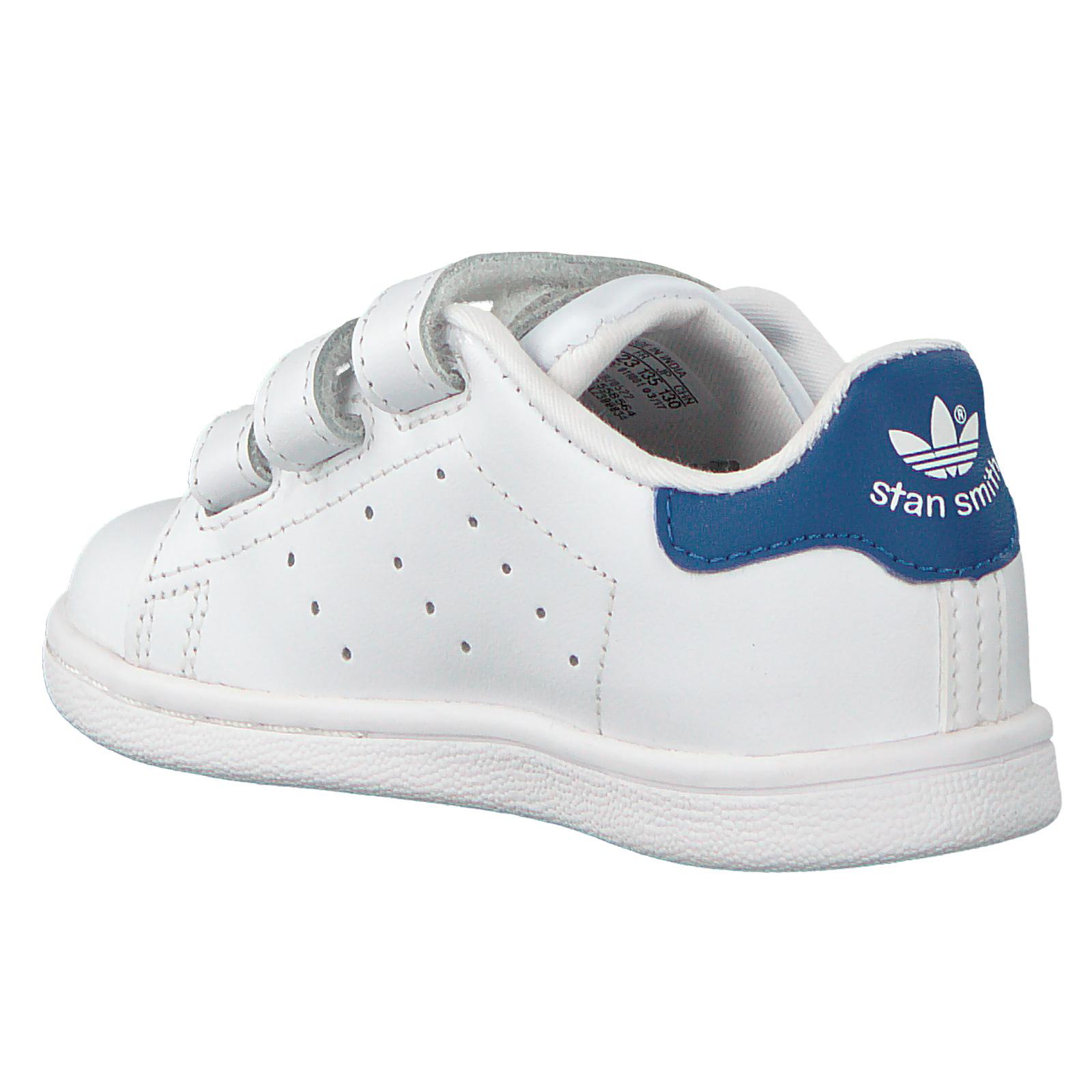buy popular 726c7 95a93 adidas Originals Stan Smith Sneaker Kinder Turnschuhe Leder Schuhe Weiß  Blau 27