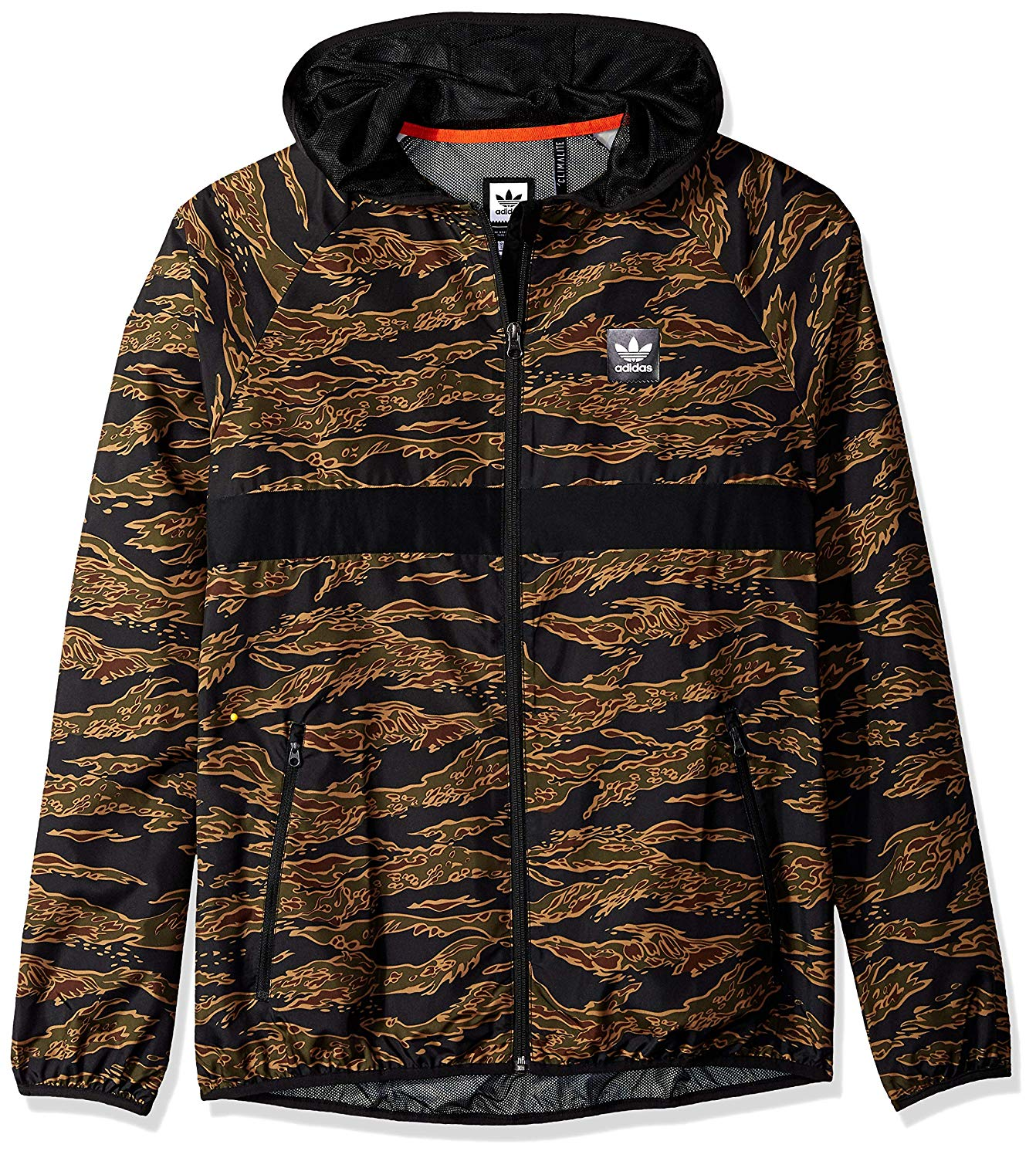 delicate colors new product free shipping Details about Adidas Men's Jacket Blackbird Camo Windbreaker Pockable  Camouflage Windbreaker