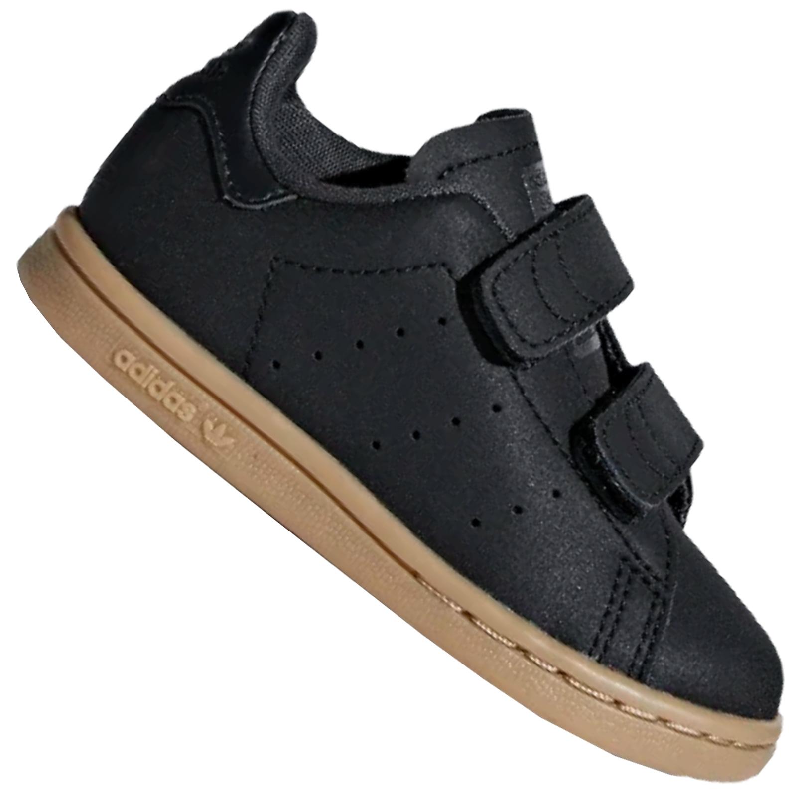 Details about Adidas Originals Stan Smith Trainers Kids Trainers Leather Shoes Matt Black show original title