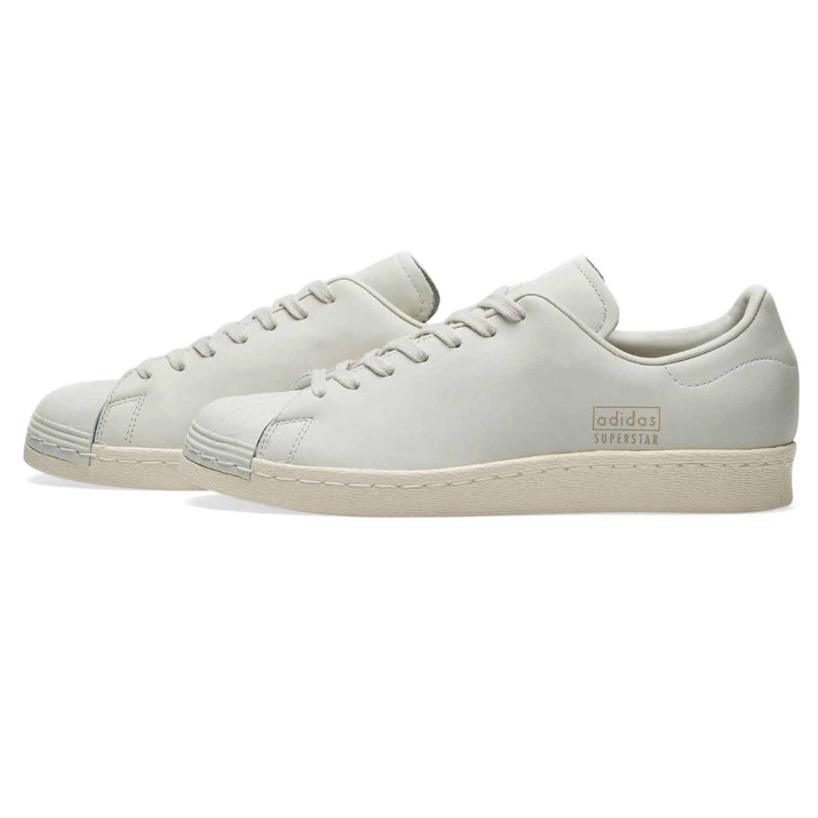 adidas Originals Superstar 80s Clean Sneaker Schuhe Leder BB0169 Chrystal White