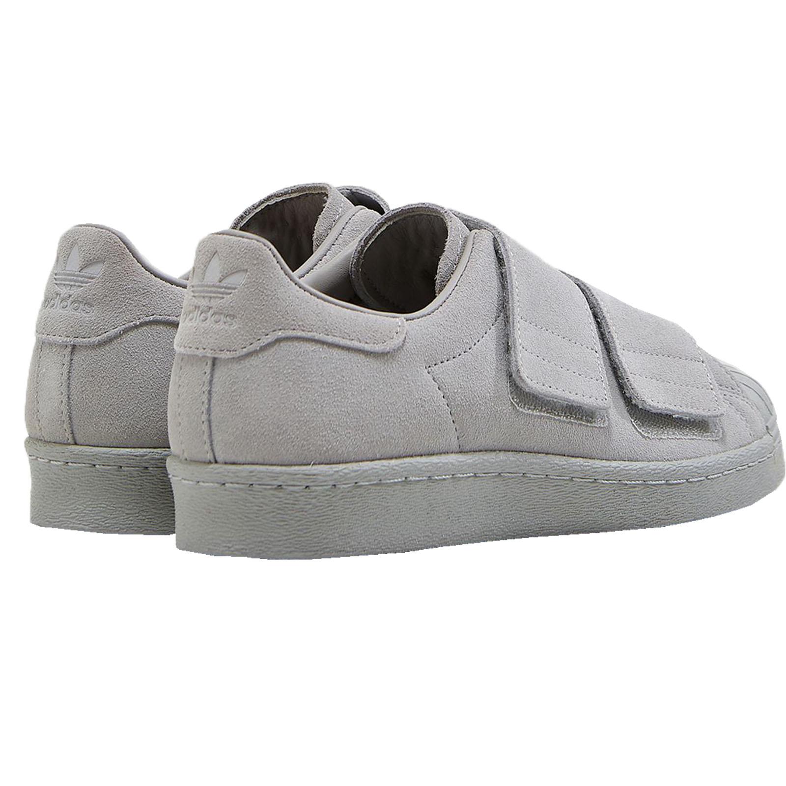 adidas Originals Herren Superstar CF Klettverschluss Sneaker Turnschuhe Grau