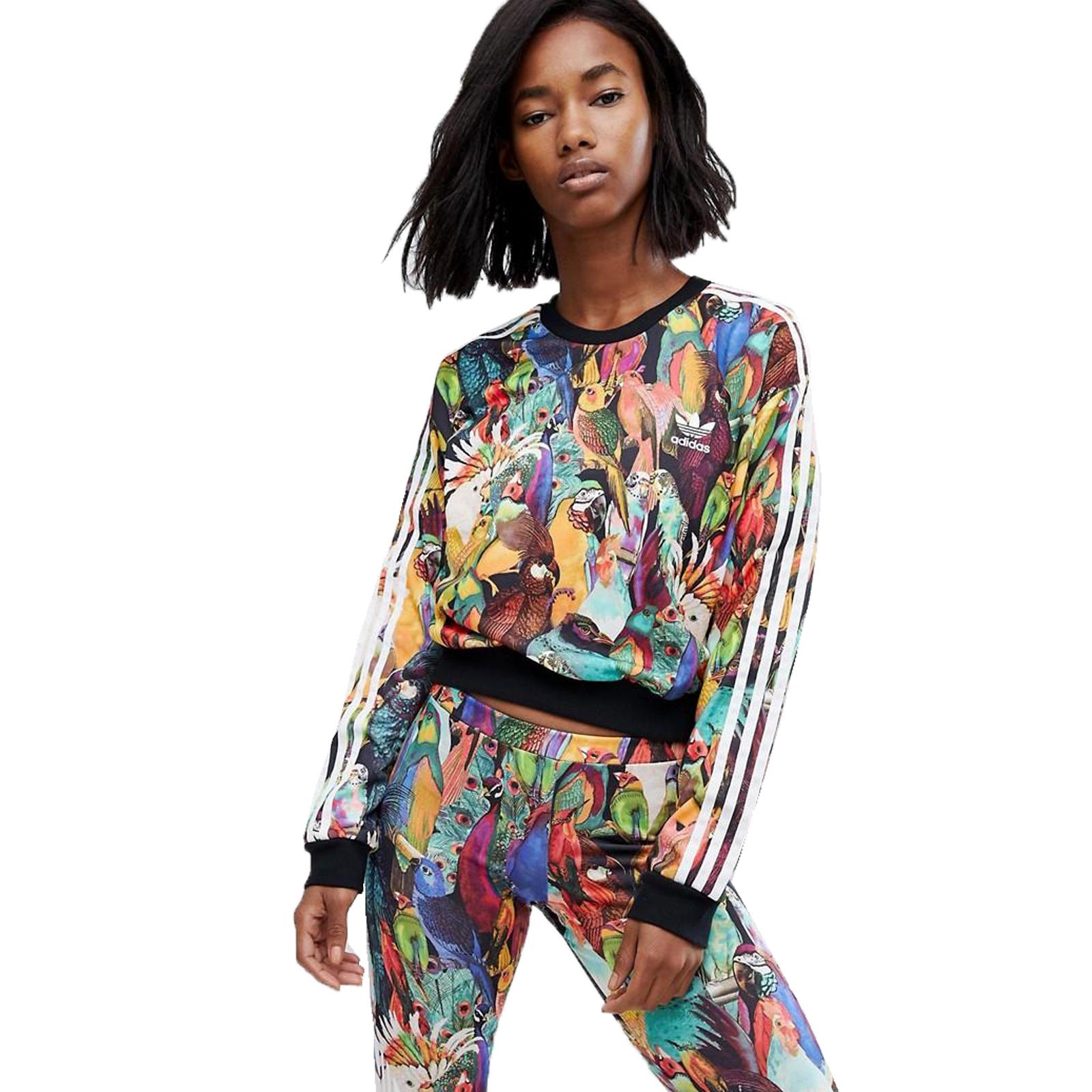 Details zu adidas Originals The Farm Company Passaredo Crop Sweatshirt kurzer Pulli Kakadu