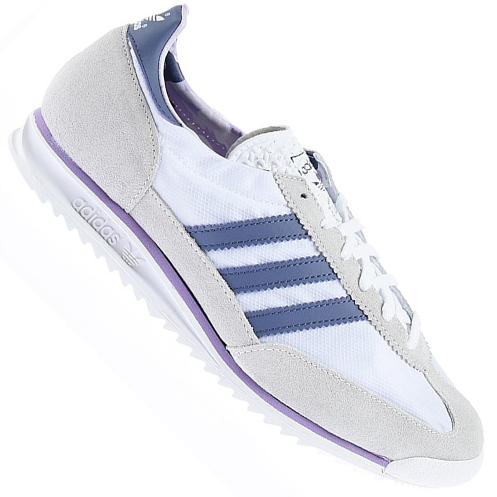 Venta caliente genuino recoger modelado duradero Adidas SL 72 Damas Retro Cuero Zapatos Entrenadores Vintage ...