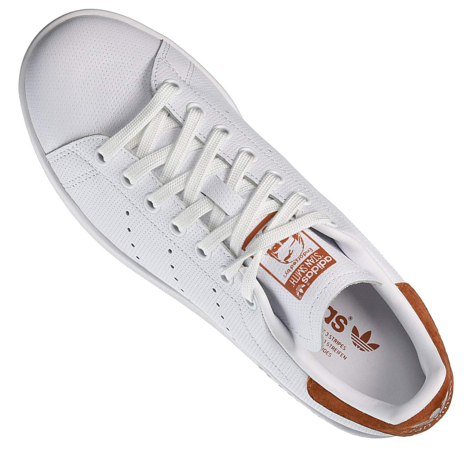 Details about Adidas Originals Stan Smith Perf Trainers Shoes B38040 Leather White Foxred