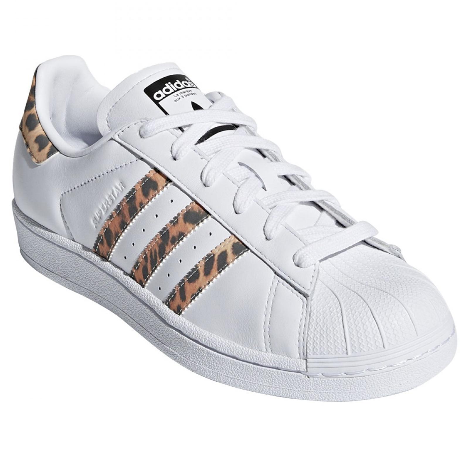 Details about Adidas Originals Superstar Leopard Leo Ponyhair Sneakers S78955 Shoes White show original title