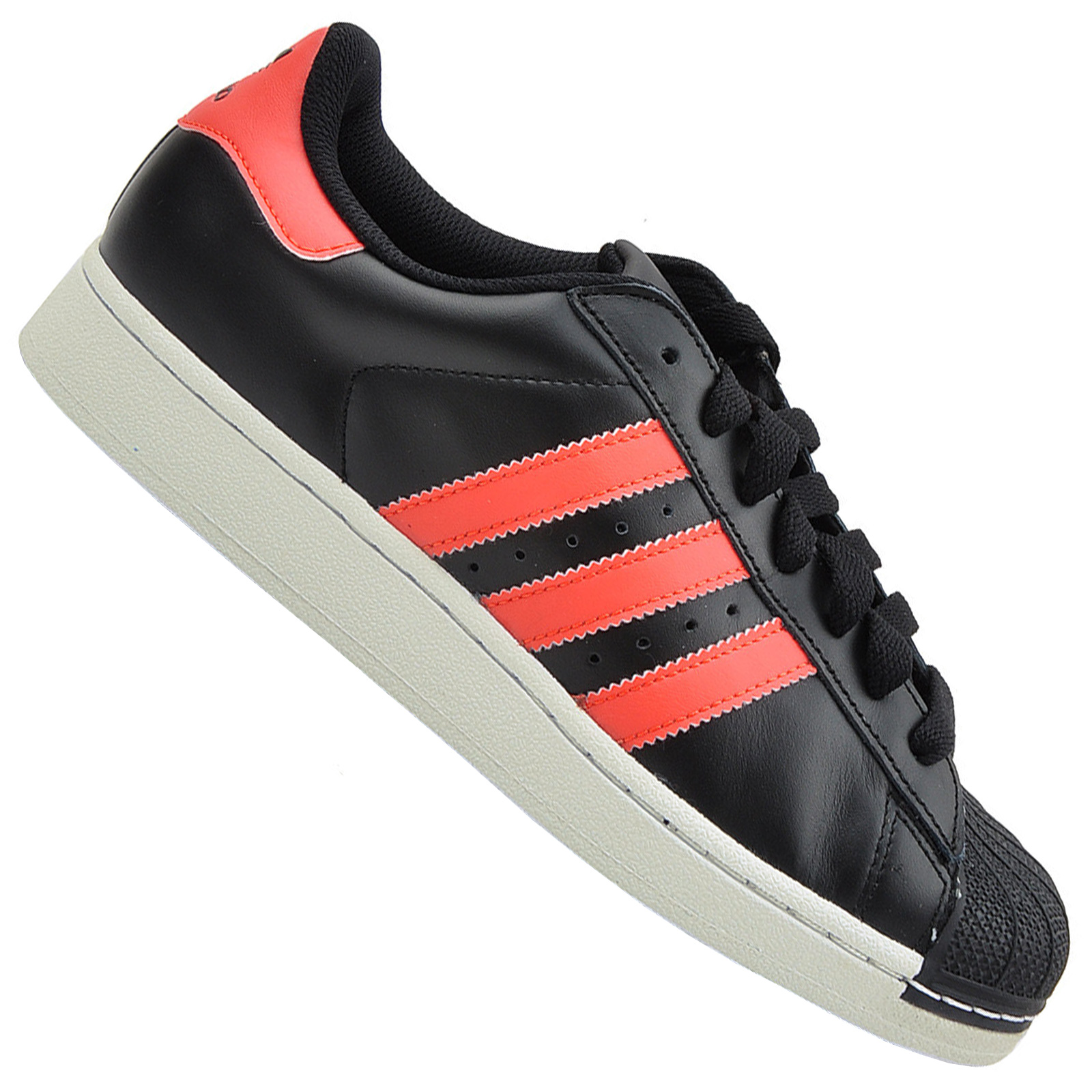 Details about Adidas Superstar II Shoes Retro Sneaker Casual Trainers G95788 Black Red