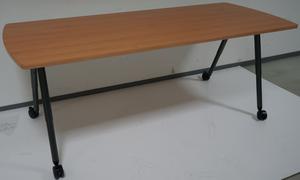 Werndl Schreibtisch Besprechungstisch mobil 200 x 80 cm Buche rollbar