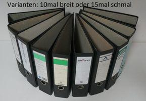 Ordner Aktenordner DIN A4 Archiv Büroordner Leitz u.a. 10 mal breit oder 15 mal schmal