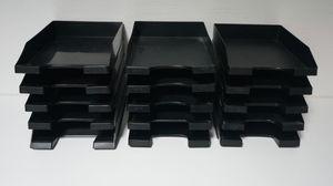 Briefkorb, Ablagekorb, Briefablage, Posteingangsfach, Ablage schwarz Menge wählbar