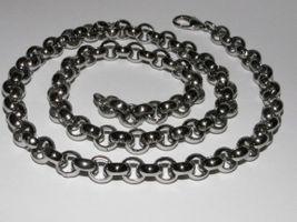 Edelstahl Kette LILROLLER Unisex Halskette 53cm 6mm NEU