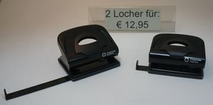 Corporate Express Locher 2 Löcher schwarz 2-er Set