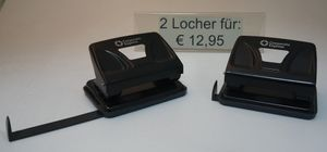 2er Set Corporate Express Locher 2 Löcher schwarz