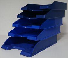 Leitz Classic Corporate Express Biefablagen DIN A4 Kunststoff blau 5er Sets