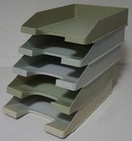 Leitz Han Biefablagen DIN A4 Kunststoff grau 5er Set