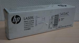 HP Toner CE413AC Magenta Cartridge verschweist Karton geöffnet