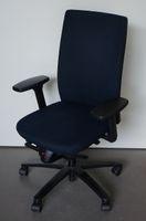 König + Neurath Bürodrehstuhl blau schwarz ergonomisch Drehsessel